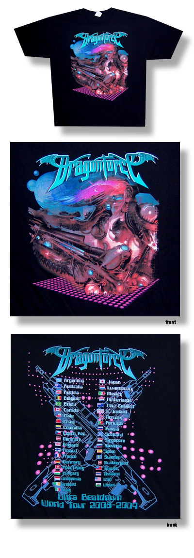 Dragonforce Planet 09 Tour Tee 005