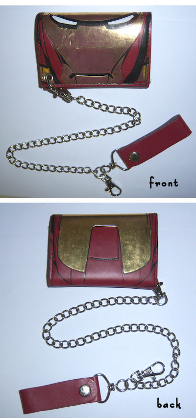 Iron Man All Over Print Leather Chain Wallet 001