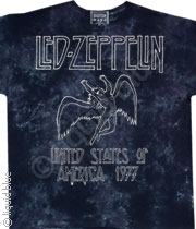 Led Zeppelin USA Tour 1977 Tee Tie-Dye 045