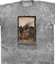 Led Zeppelin Man With Sticks Tee Tie-Dye 048