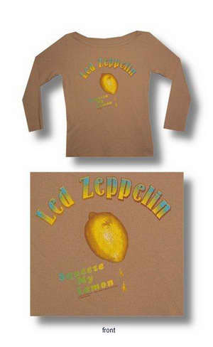 Led Zeppelin Lemon 3/4 Sleeve Ladies Thermal 033