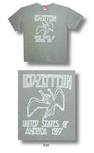 Led Zeppelin US 77 Heather Green Tee 034