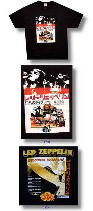 Led Zeppelin Japan Tour 30/1 Tee 035