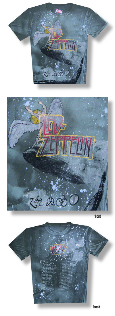 Led Zeppelin Swan Song 1977 SWAG Tie Dye Tour Tee 037