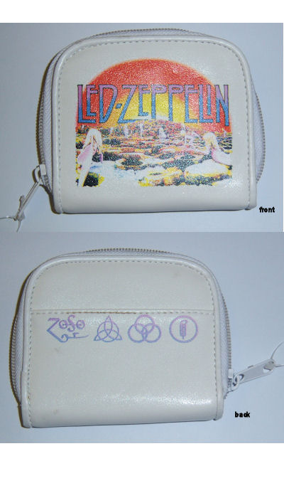 Led Zeppelin White Coin Purse 049