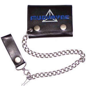 Mudvayne Embossed Leather Wallet w/ Chain 013