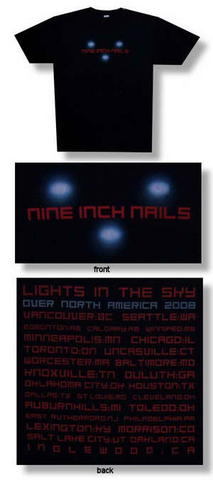 Nine Inch Nails Three Lights 08 Tour 30/1 Tee 003
