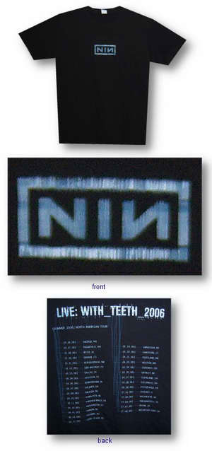 Nine Inch Nails Logo / Live With Teeth 2006 Tee 005
