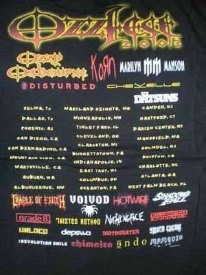 Ozzy Osbourne Front 019 Ozzfest 2003